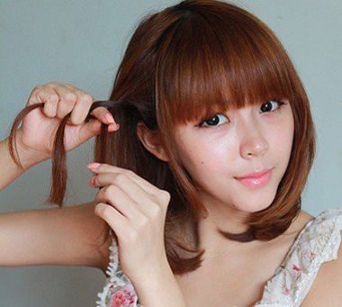 扎哪种发型适合菱形脸 菱形脸型头发短适合扎什么发型图片