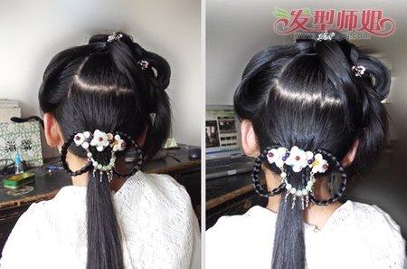 古代的头发怎么盘 古代盘头发的方法图解(8)
