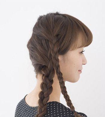 小学生直发发型简单好看扎法步骤 适合小学生的扎发图解图片