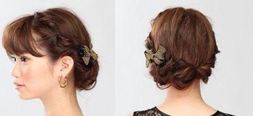 较短的头发怎么盘好看 中短发盘头发大全(2)_发型师姐