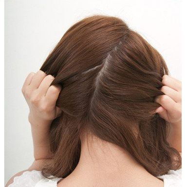 简单好看的发型扎法中学生直发 2016扎学生发型图片