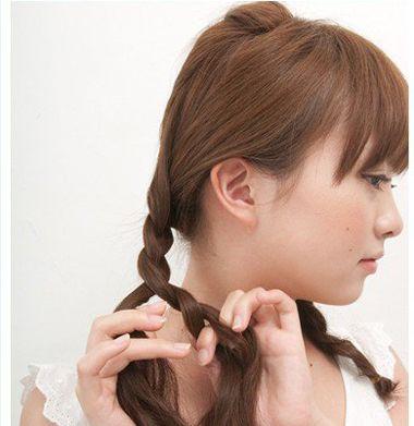 简单好看的发型扎法中学生直发