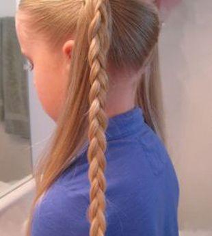 儿童长发发型盘法 儿童盘发发型图解