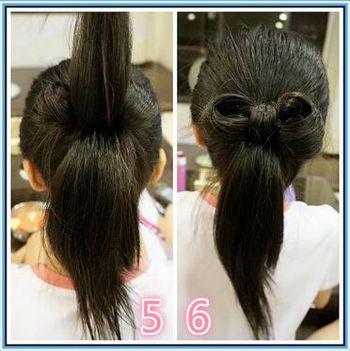 小学生怎样扎头发可爱图片图片