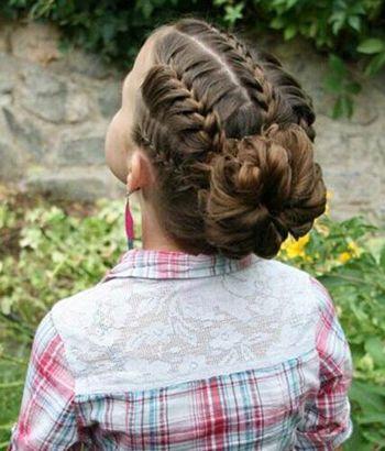 怎么给小孩子编头发 小孩编头发的方法(4)