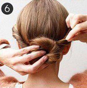 跳舞时怎样盘头发 舞会发型盘法步骤(5)图片