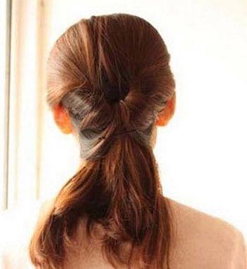 头发少盘头哪款发型比较适合 头发少中长发盘发发型图片