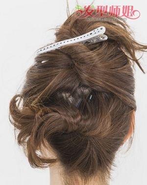 中年盘头发型步骤图片 2017中年女盘发发型图片