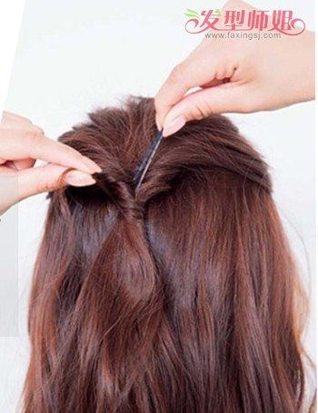 菱形脸如何扎头发好看 菱形脸女孩扎头发(3)图片
