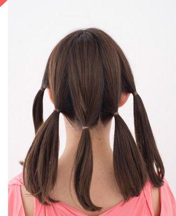 有刘海的中学生怎么扎头发好看 学生发型扎法有刘海过程图片