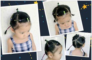 女童短发编发发型图片 好看的儿童短发型编发(4)