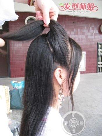 自己如何盘古装头发,简单学习古代 盘头发发型步骤,半扎发显然更合适