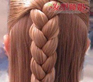女孩漂亮的编发发型大全 学习给小女孩编发型图片
