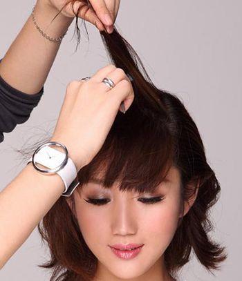 2016韩式新娘发型扎法步骤