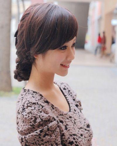 中年女性发型刘海图片 中年妇女刘海发型(3)图片