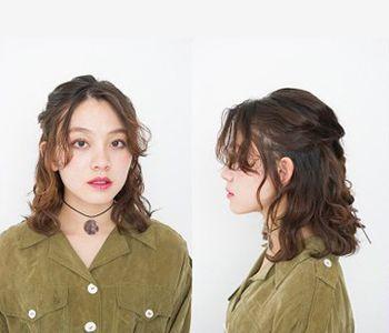 发型diy 短发扎发 >> 胖mm烫发后怎样扎头发好看 胖mm卷发扎发图解(6)图片