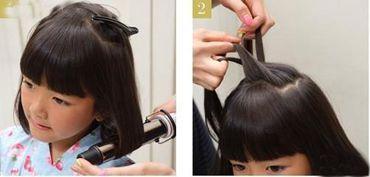 3岁女童发型扎法 儿童短发发型扎法步骤图片