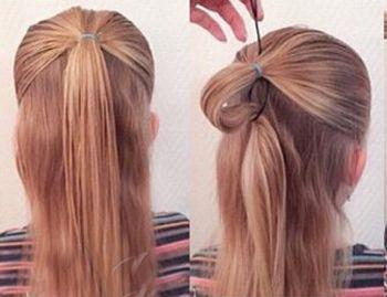 发型设计 儿童发型 >> 五岁小女孩的发型编发 孩子编辫子发型扎法步骤图片