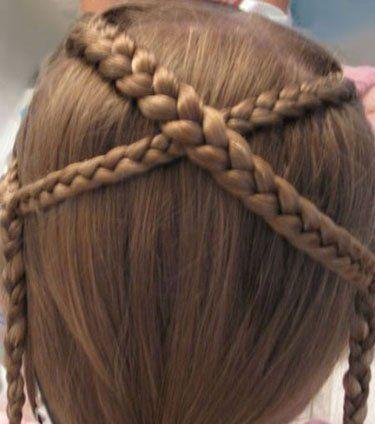 发型设计 儿童发型 >> 小女孩好看的发型怎么扎 小女孩辫子发型扎法图片