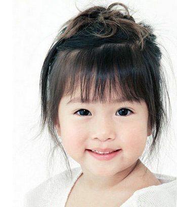 儿童短发盘发的图解 最新儿童短发盘头发发型 发型师姐