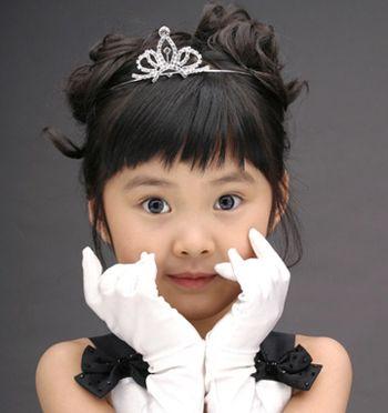 儿童短发盘发的图解 最新儿童短发盘头发发型