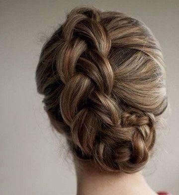 流行美盘头发型步骤图片