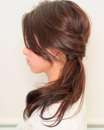 学生圆脸如何扎头发 适合圆脸学生的马尾扎法(6)_发型图片