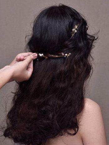 韩式新娘盘发发型图解