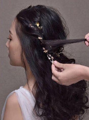 韩式新娘盘发发型图解 超新新娘韩式盘发发型(2)图片