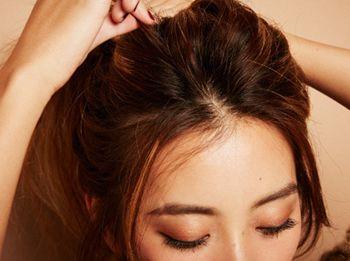 韩式无刘海发型扎法 无刘海气质发型扎法