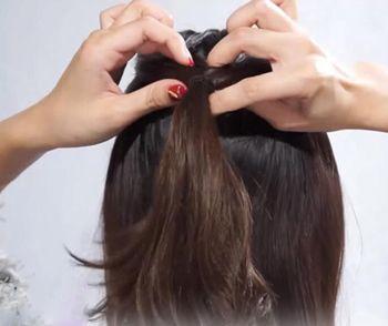 齐刘海烫发发型扎法 齐刘海公主头发型图片