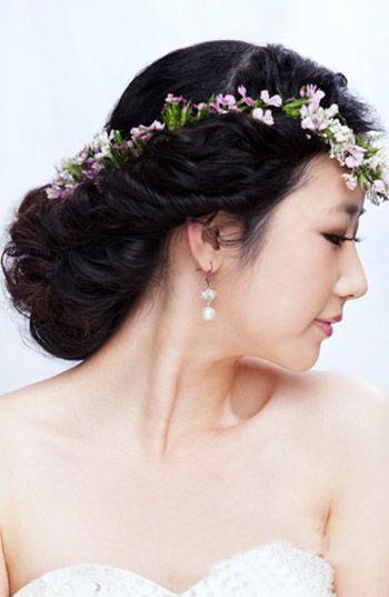 韩式新娘发型盘发步骤图解