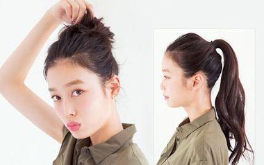如何把头发扎的露出额头 露额头发怎么扎好看图片