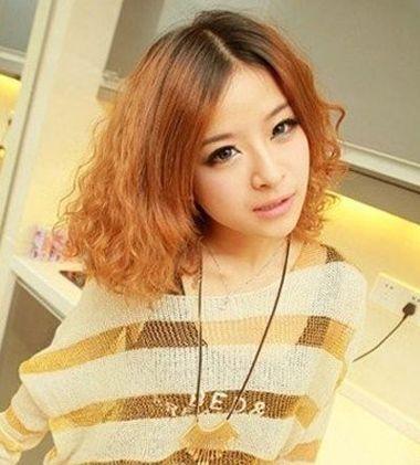 短发玉米烫发发型 短发烫玉米须发型设计图片(3)图片