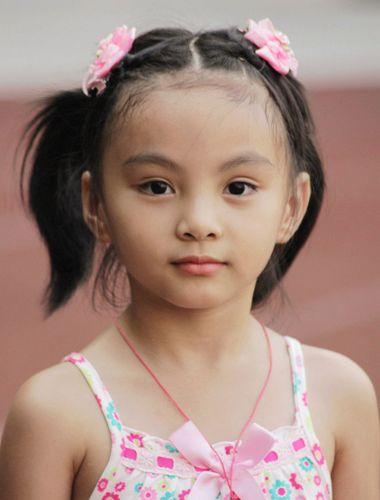 发型短编发可爱小孩小孩编辫子的发型(2)内扣齐刘海怎么弄图片