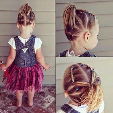 小孩短编发可爱发型 小孩编辫子的发型 发型师姐