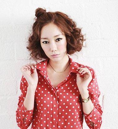 韩式短中发烫发发型 韩国短发烫发发型图片图片