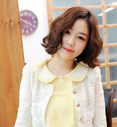 短中发烫发发型_韩式短中发烫发发型 韩国短发烫发发型图片(2)_发型师姐