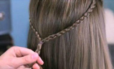 小孩头发不太长怎样编打理 小孩刘海编发发型步骤(2)