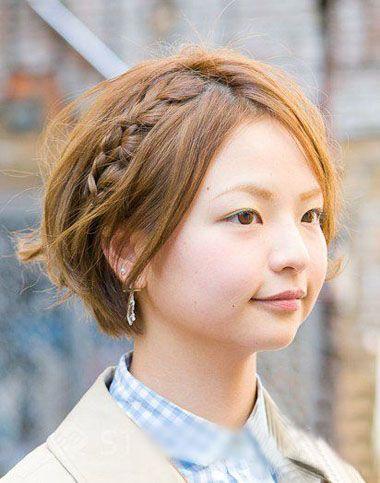 中短发编发发型大全 短头发可编织的发型图片