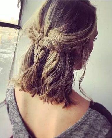 中短发编发发型大全 短头发可编织的发型(3)图片