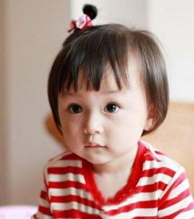 韩国版儿童刘海短发如何梳辫子 女童扎发发型大全(4)