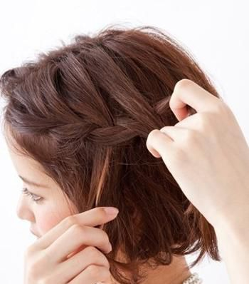 你除了长发披肩外,也是可以学学短发 编发发型步骤图的哦,不管你是图片