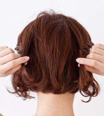 女生短发发型编织 短发编发发型步骤(2)图片