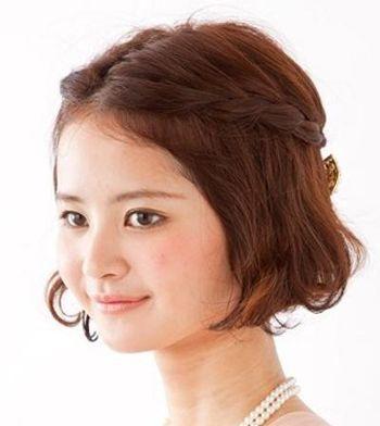 女生短发发型编织 短发编发发型步骤(5)