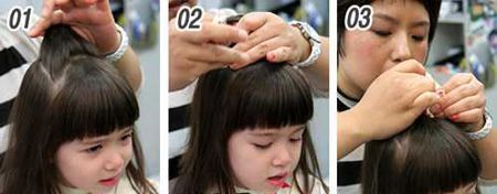 儿童扎辫子头型与发型图片 儿童公主辫子发型扎法图片