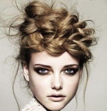 发型设计 盘发 >> 柚子脸型长发适合怎么盘头女图片  脸型是一个人图片