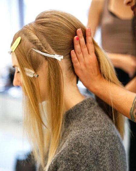 没剪刘海的长头发怎么扎好看 简单扎头发没刘海图片