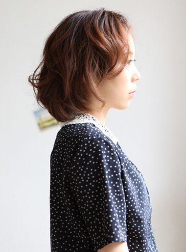 韩式无刘海卷发发型 韩版无刘海短发卷发图片