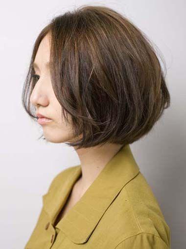 韩式无刘海卷发发型 韩版无刘海短发卷发(4)图片